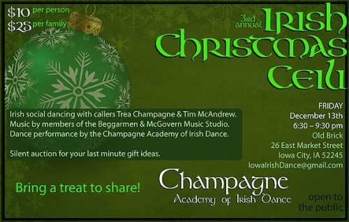 3rd Annual Irish Christmas Ceili